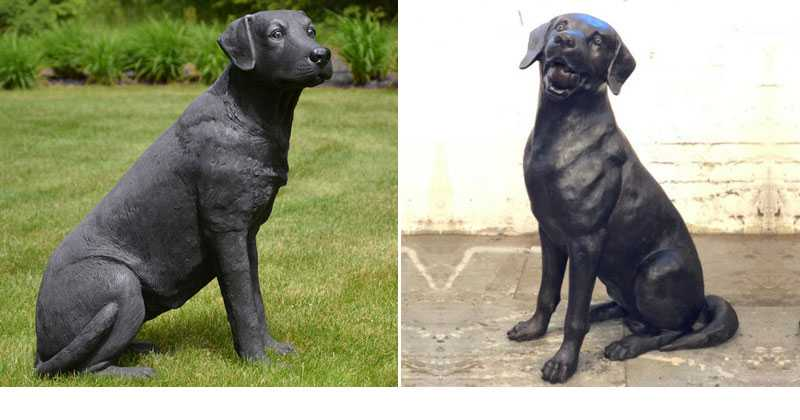 custom made bronze black lab statue for sale