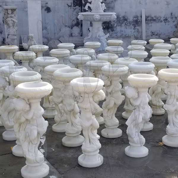 extra large outdoor marble planters for sale