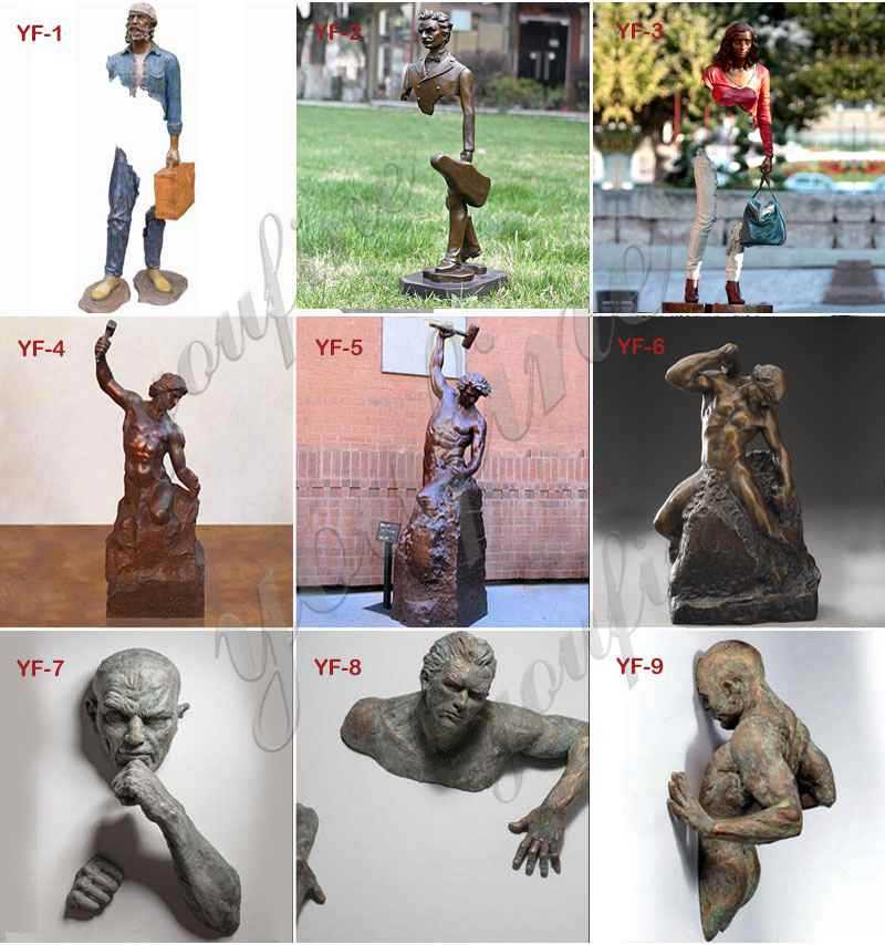 famous bronze Self Made Man Statue Replica
