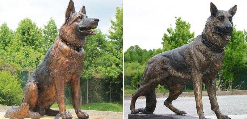 german shepherd sculptures for sale