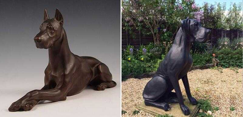 great dane garden statue for sale