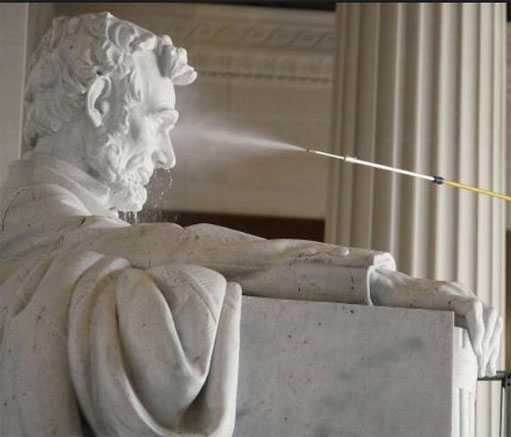How to clean a marble statues/sculptures