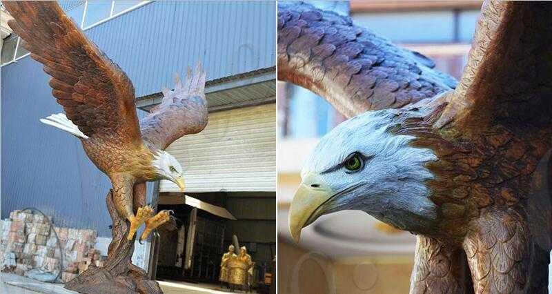 large bronze eagle sculptures for sale