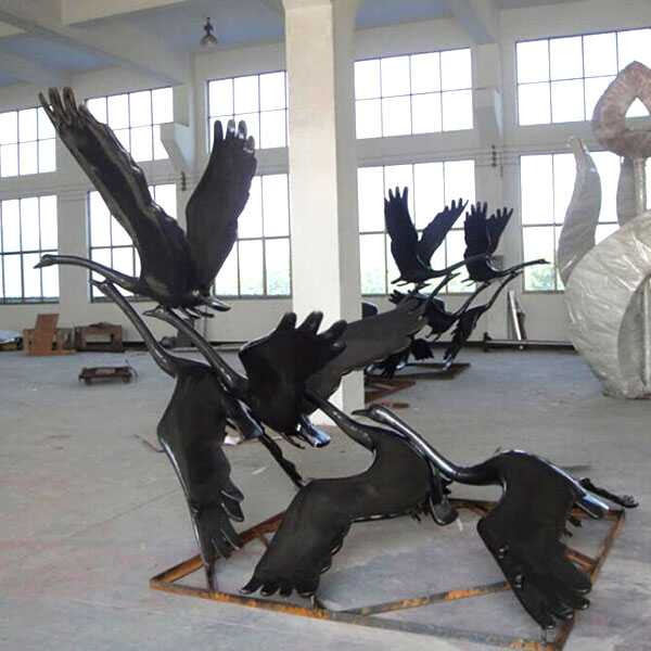 large outdoor crane statues antique bronze cranes garden statue for sale