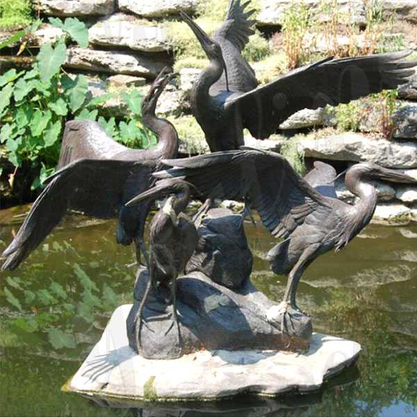 large outdoor crane statues antique bronze cranes garden statues for pool decor for sale