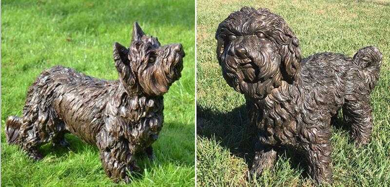 large outdoor maltese dog statues for sale
