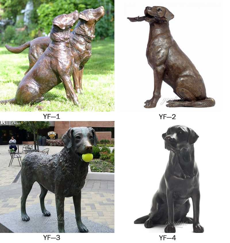 life size black lab statue for sale