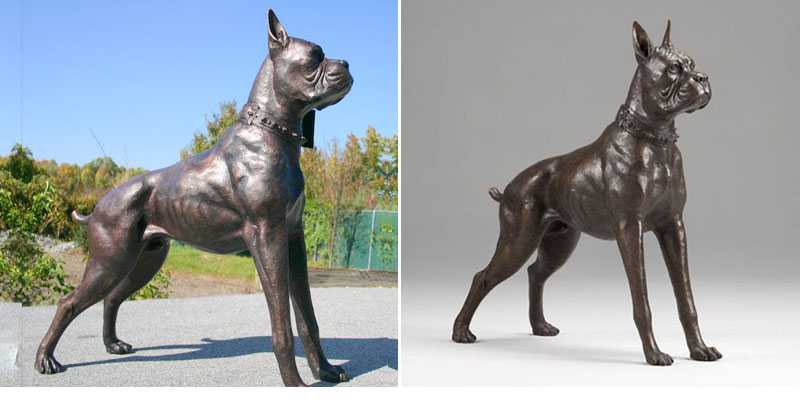 life size bronze boxer dog statue design dog statues lawn ornaments for sale