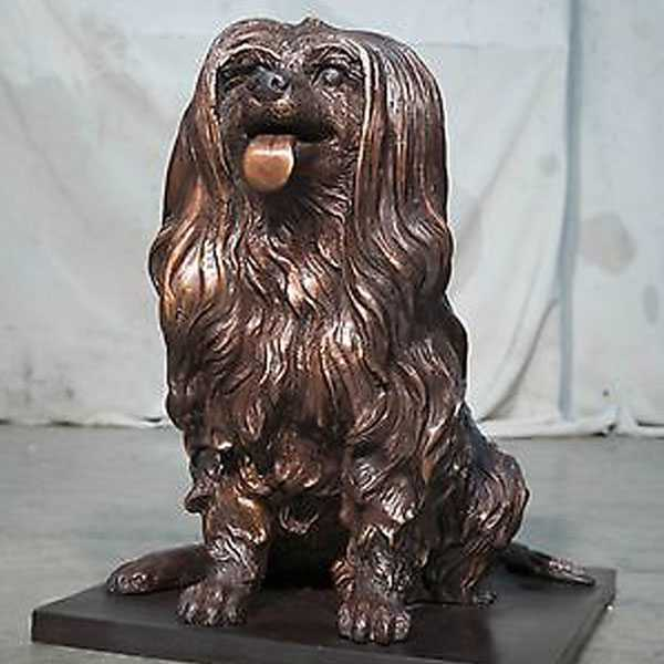 life size bronze maltese dog statues