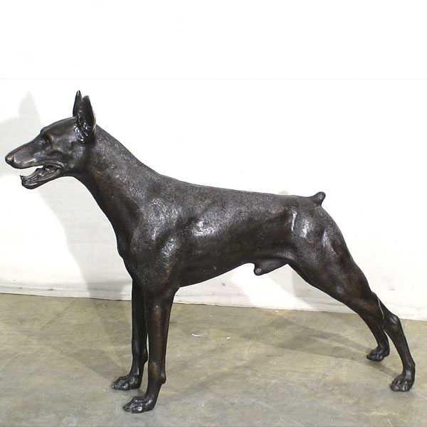 life size doberman pinscher statue for sale