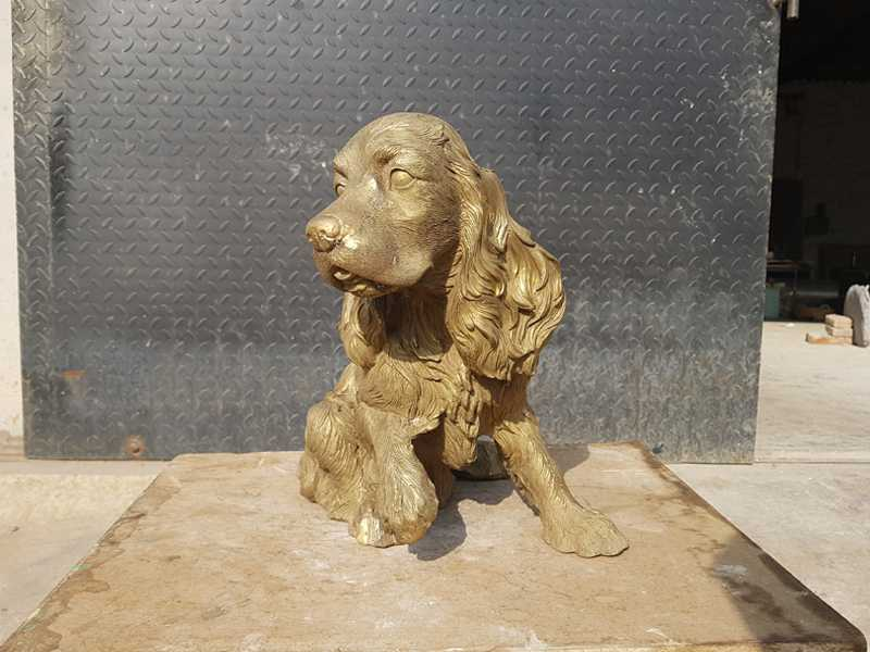 life size english springer spaniel statues for sale