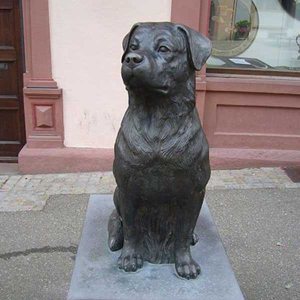Life Size Antique Bronze Rottweiler Statues Outdoor Dog Statues for Home for Sale BOKK-552