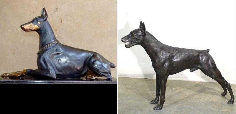 life size doberman pinscher statue
