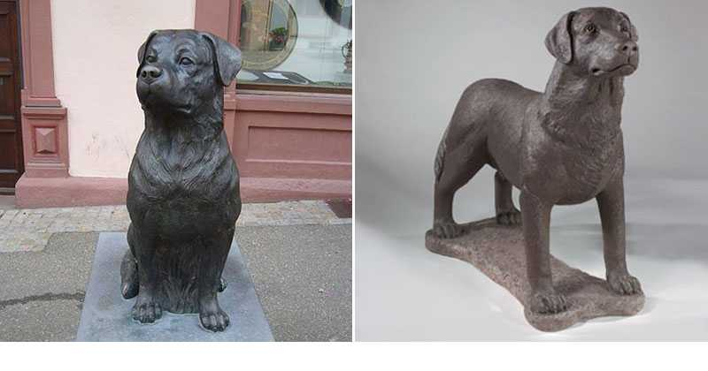 rottweiler dog statues for home