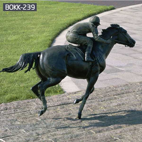 Bronse Riding Horse Statue For Sale-BOKK-239