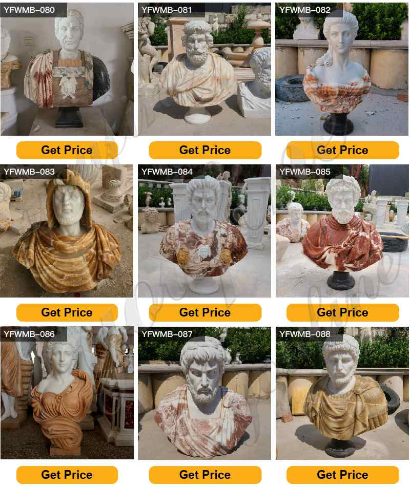 Classical Roman Bust Life Size Marble Garden Statues for Sale