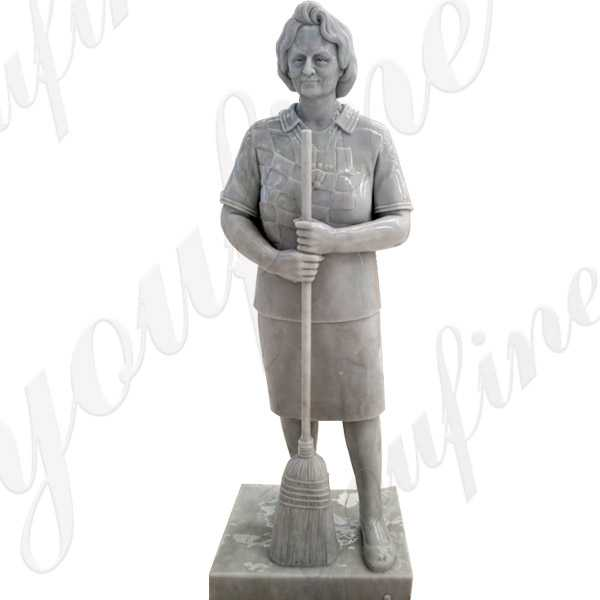 Custom Made a Life Size Marble Figure Statue from a Photo for Our Customer's Mother from America with High Quality MOKK-325