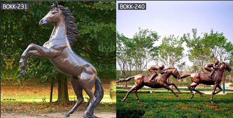 Do You Like The Bronze Mother and Child Horse Sculpture-BOKK-244