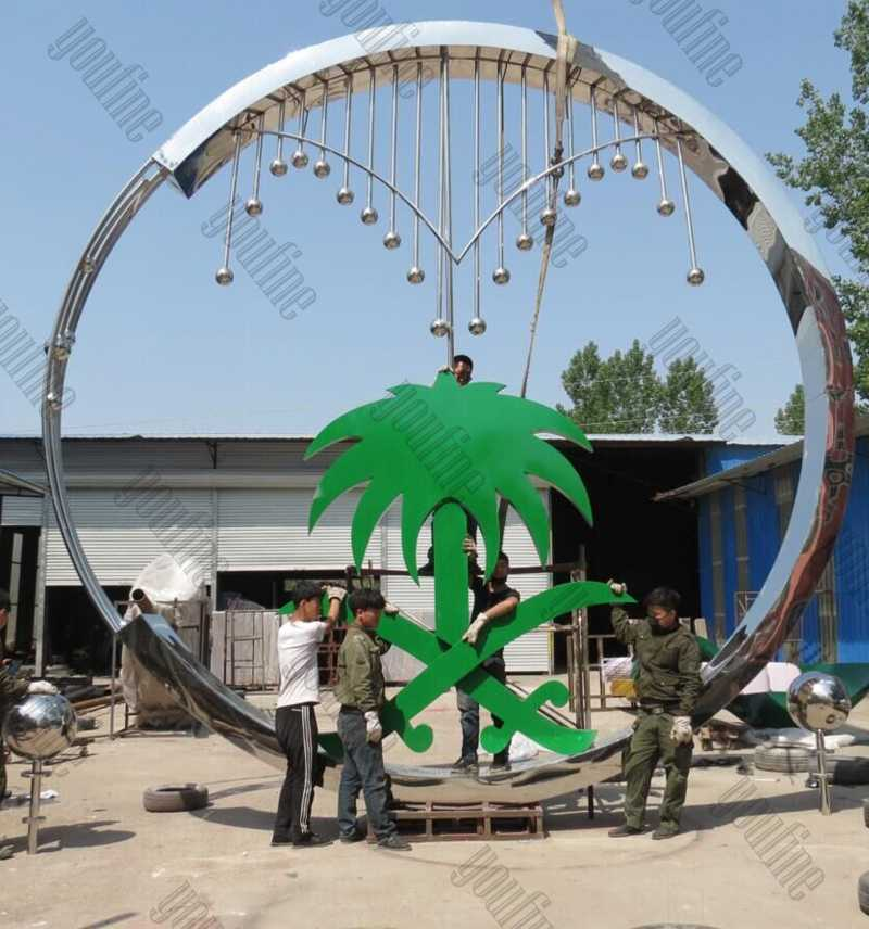 Large Mirror Polished Contemporary Stainless Steel Sculpture Manufacturers Outdoor Metal Sculptures for Sale CSS-81