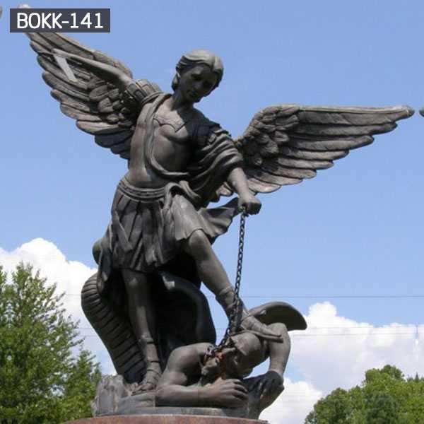 Large Outdoor Metal Crafts Bronze Winged Angel Statue BOKK-141