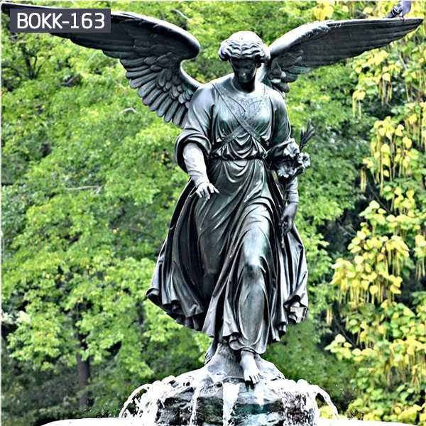 Famous Metal Life Size Bronze Winged Angel Statue BOKK-163