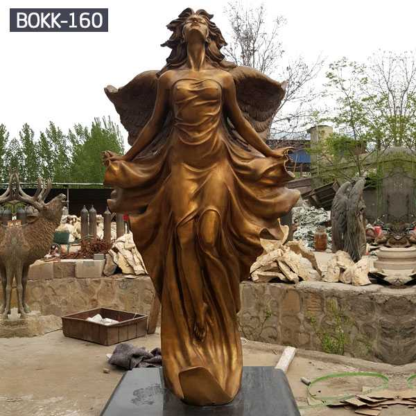 Life Size Bronze Angel Statue Sculpture Out Door Decoration Bronze Statue Sculpture BOKK-160