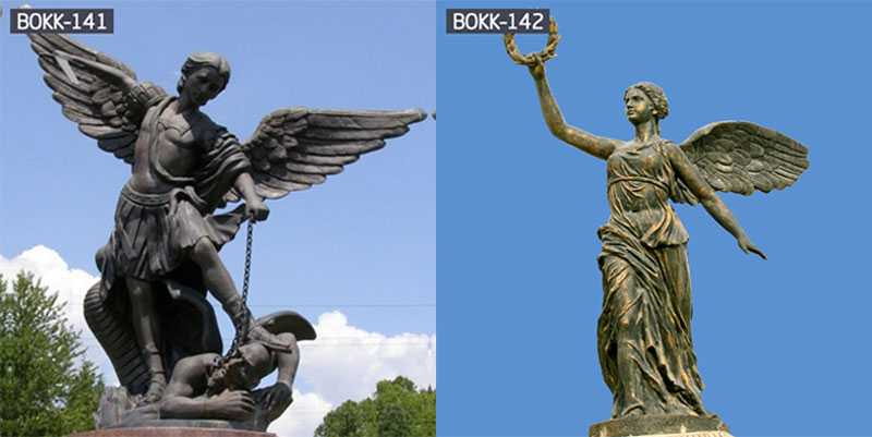 Life Size Bronze Angel Statue Sculpture Out Door Decoration Bronze Statue Sculpture