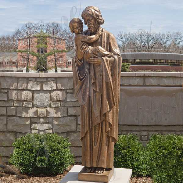 Life Size Bronze St Joseph Garden Statue Religious Catholic Outdoor Statues Design for Sale from China BOKK-650