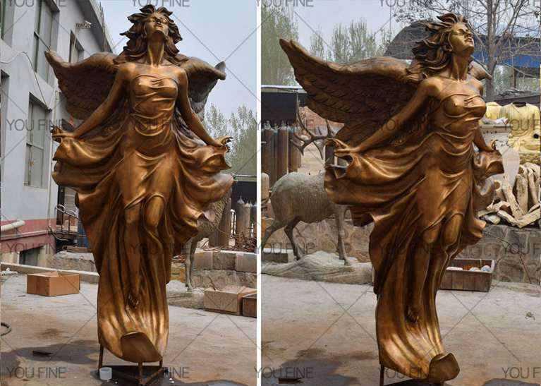 Life size beauty garden decor famous bronze figure statues female staue design for sale (