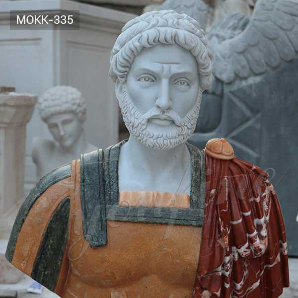 MOKK-335 Life Size Custom Famous Classical Roman Busts Design Replica With Pure Hand Carved for Garden or Indoor Decor for Sale