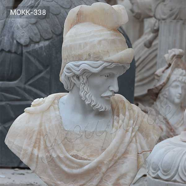 Custom Made Classical Roman Bust Life Size Marble Garden Statues for Sale MOKK-338
