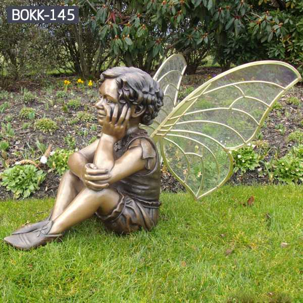 Outdoor Garden Bronze Metal Angle Sculpture for Sale BOKK-145