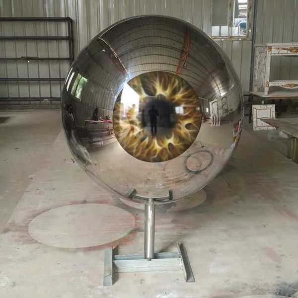 Outdoor Modern Stainless Steel Eyeball Design Steel Artworks Artists Sculpture for Garden Decoration for Sale