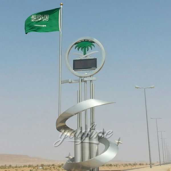 The series of Saudi Arabia giant metal art sculpture stainless steel designs outdoor-large-metal-art-sculpture--CSS-08