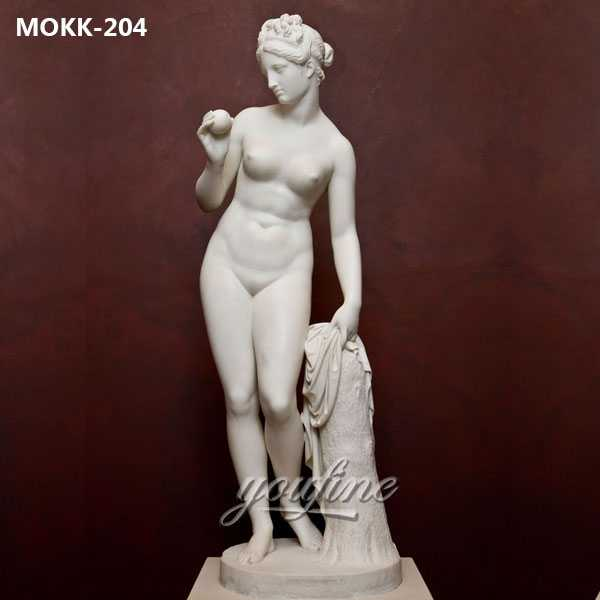 White-Marble-Famous-Art--Nude-Woman-Statue-Venus-with-Apple-for-Sale-MOKK-204