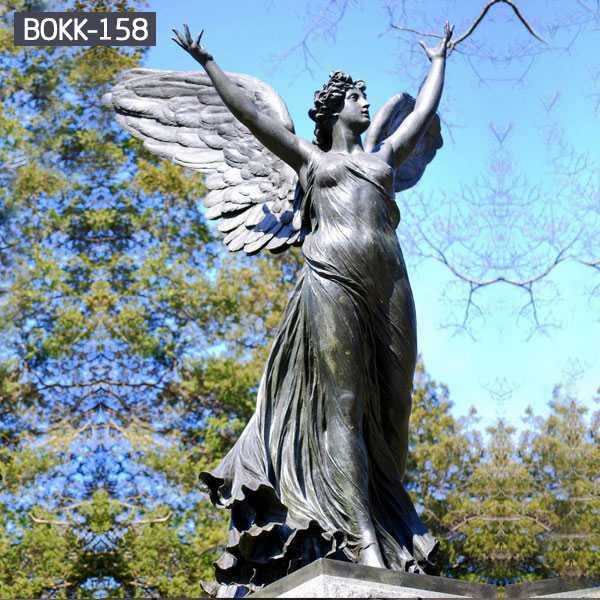 bronze guardian angel statue,