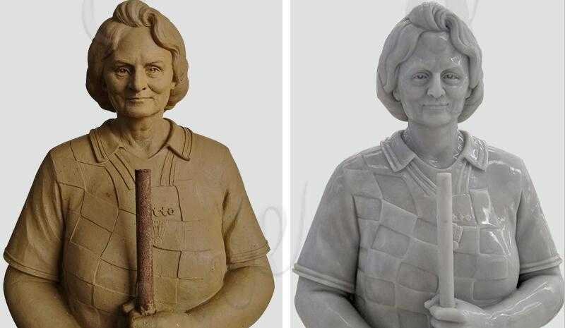 custom a life size marble figure statue from a photo for our customer's mother with high quality