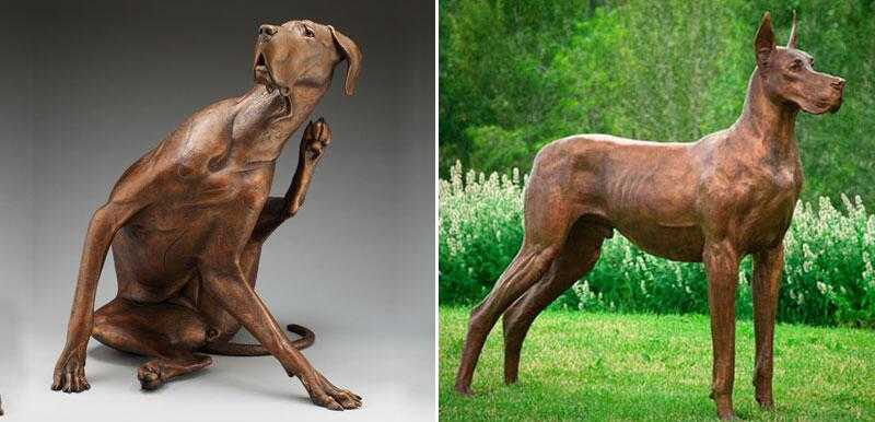 custom made bronze great dane statue for sale