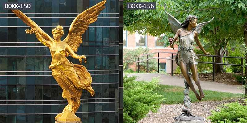 Life Size Figure Bronze Statue Angel Statue for Garden