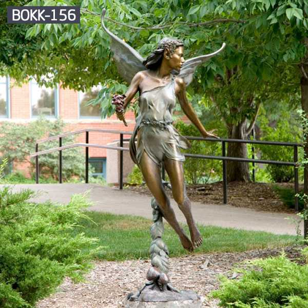 Outdoor Large Garden Bronze Angel Statue with Wings for Sale BOKK-156