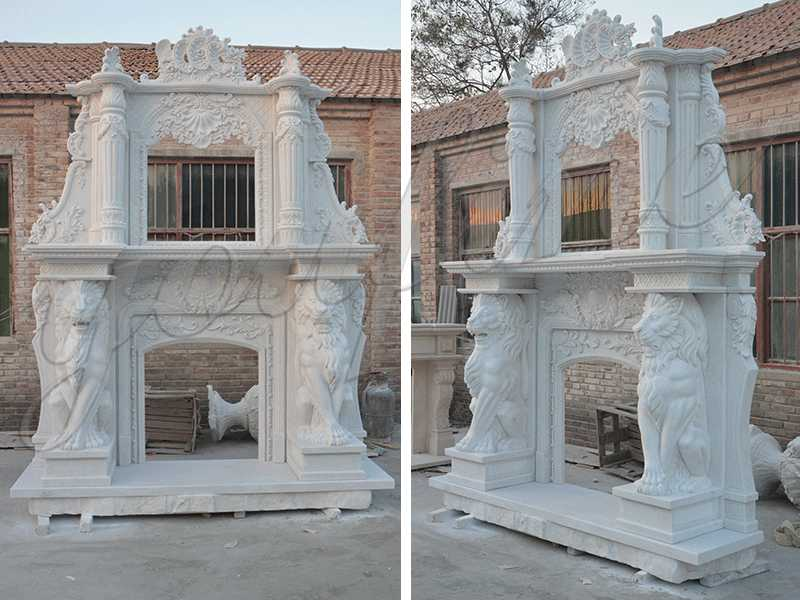 large fireplace contemporary hand carved marble fireplace mantels and surrounds for sale from China supplier
