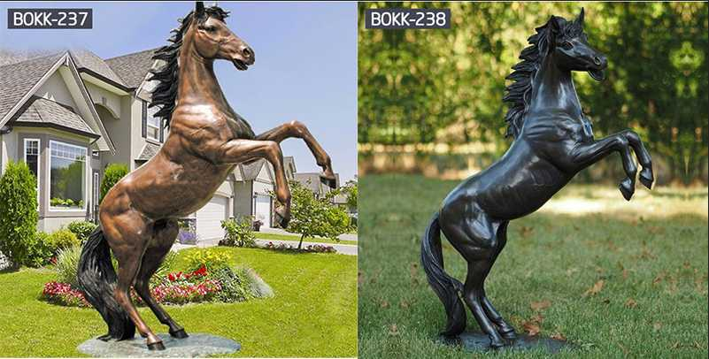 Do You Know the Process of Making Bronze Horse Sculpture-BOKK-218