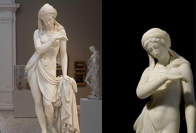 Life-size Scipione Tadolini Ancient Greek Slave Sculpture Outdoor Garden Decoration is Selling-MOKK-230