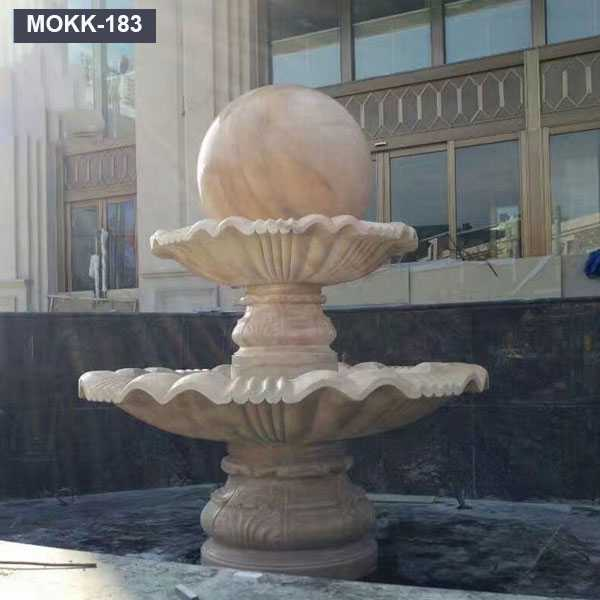 Outdoor Marble Fengshui Water Feature Floating Sphere Fountains MOKK-183