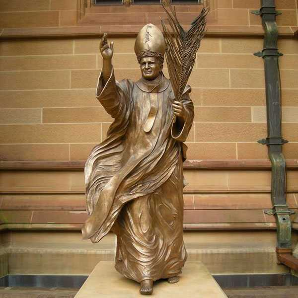 BOKK-617 Life Size Saint Pope John II Statue Replica Design Bronze Catholic Church Sculptures for Sale