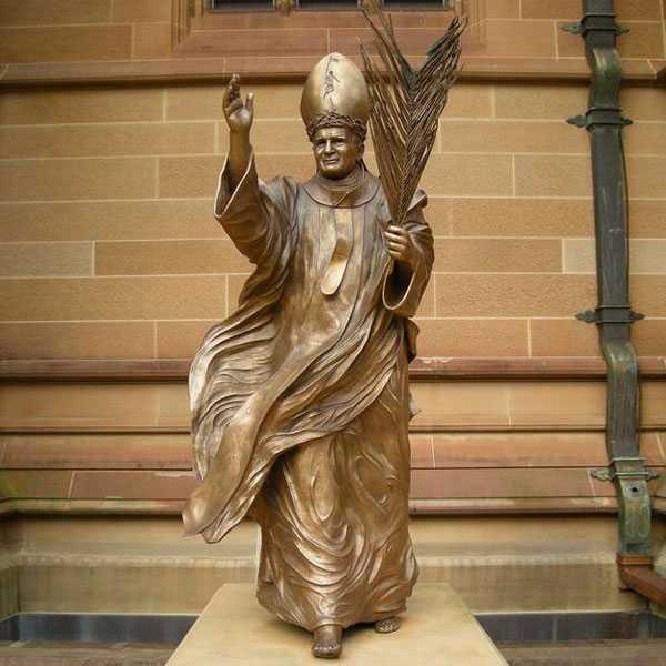 BOKK-617 Life size saint pope john II statue replica design bronze catholic church sculptures of for sale