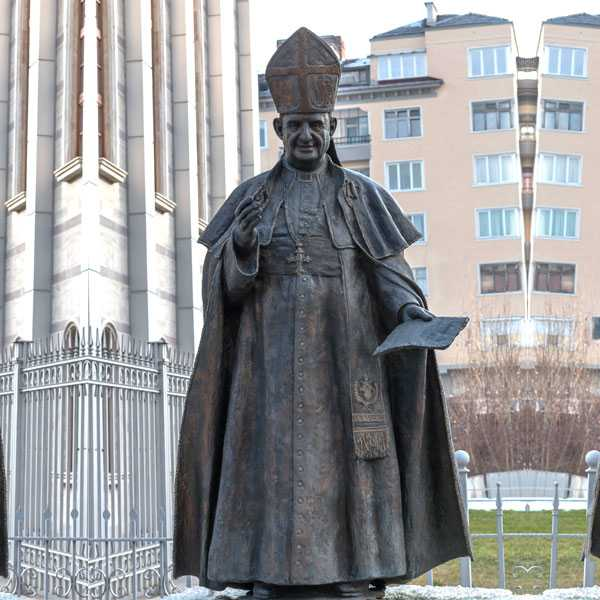BOKK-620 life size bronze pope john II statue catholic church lawn statues for sale