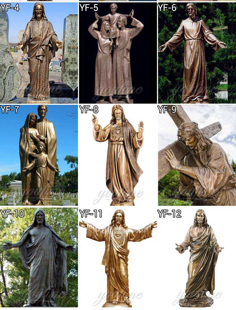 BOKK-641 Large Brass Christ Saint Jesus Statue