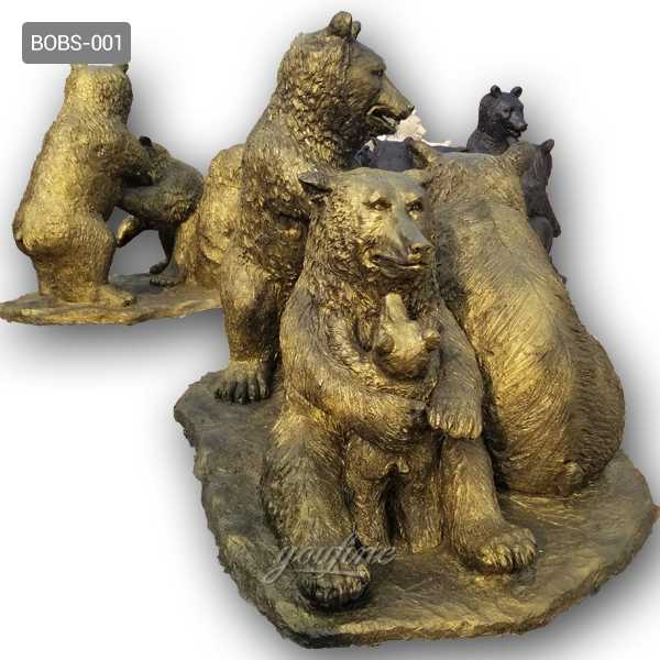 BOKK-655 Life Size Bronze Bear Statue Outdoor Brass Wildlife Animal Garden Sculpture for Sale