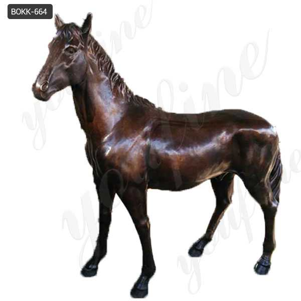 Life Size Antique Bronze Horse Outdoor Statue Wildlife Animal Statue for Sale BOKK-664